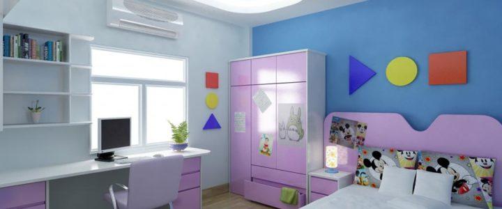 Mẫu thiết kế trần thạch cao phòng trẻ em đẹp